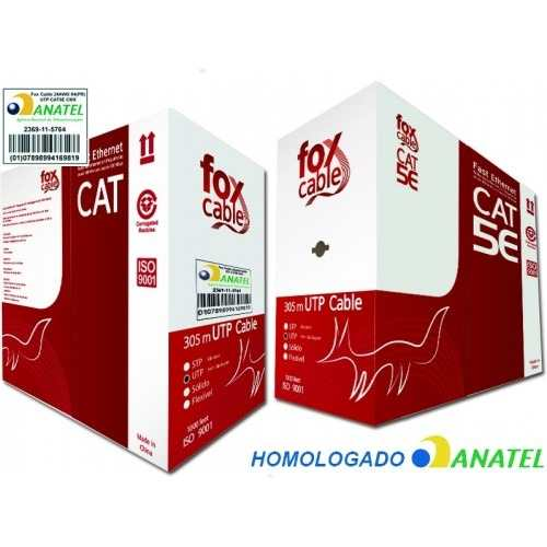 Cabo de rede UTP LAN 4 pares Cat.5E Fox Cable